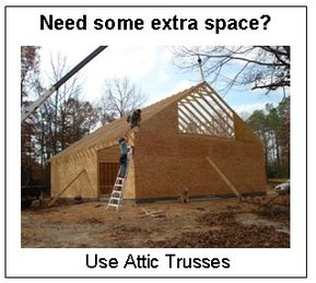 Roof truss advantage with midland truss inc floor for Bonus room truss design